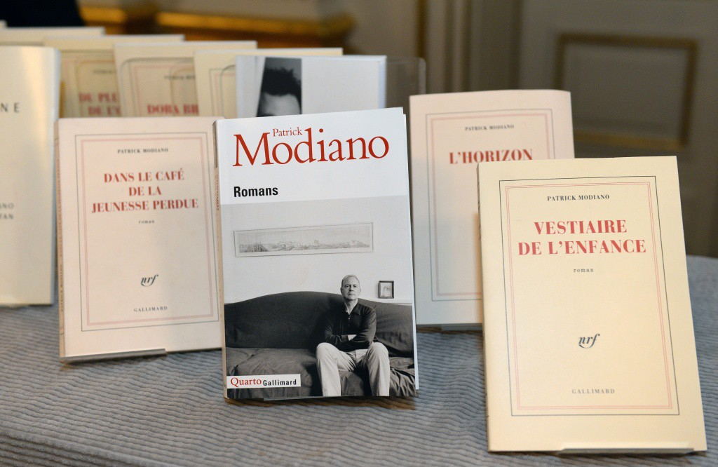 "Books by Patrick Modiano of France are on display after he was announced as the winner of the 2014 Nobel Prize in Literature on October 9, 2014 at the Royal Swedish Academy in Stockholm, Sweden. The prize was awarded for ""The Art of Memory"" with which he has evoked the most ungraspable human destinies and uncovered the life-world of the occupation,"" the Swedish Academy said. AFP PHOTO / JONATHAN NACKSTRAND (Photo credit should read JONATHAN NACKSTRAND/AFP/Getty Images)"
