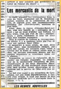 Figure 6 L'Intransigeant, 2 septembre 1919 @ vlecalvez.free.fr/hommes28eRI_Choquin